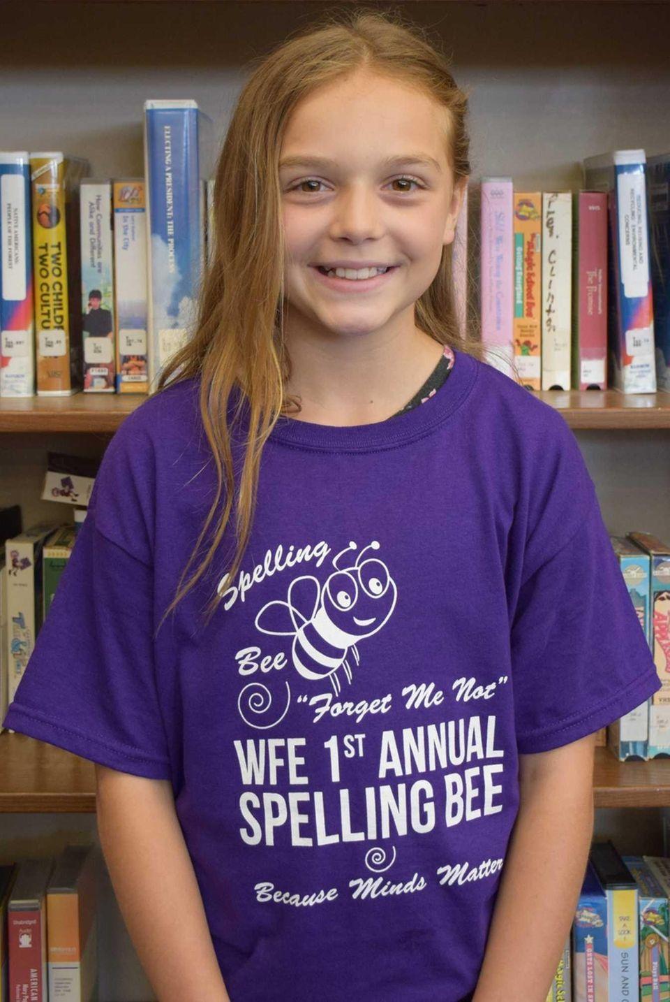 Krista Cusimano, 11, a fifth-grader at William Floyd