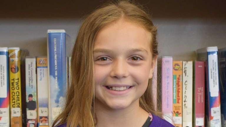Krista Cusimano, 11, a fifth-grader at William Floyd