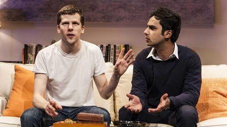 Jesse Eisenberg, left, and Kunal Nayyar star in