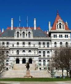 The State Capitol Building of New York is