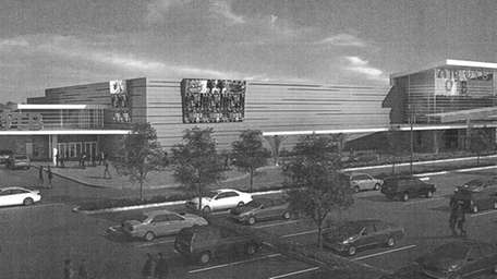An artists rendering of the casino proposed for