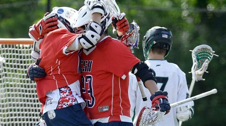 Cold Spring Harbor's Matt Licciardi, left, and Riley