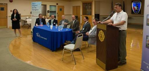 Senior staff and physicians from Southside Hospital held