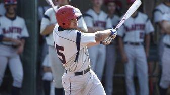MacArthur infielder Jared Wolfe hits a two-run single
