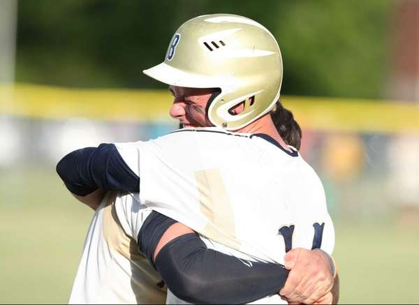 Bayport-Blue Point's Dylan Rooney and Kyle Lawrence celebrate