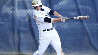 Bayport-Blue Point's Kyle Lawrence singles in the winning