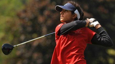 Trisha Patel of Syosset tees off on the