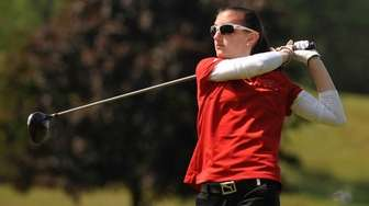Leah Cullen of Syosset tees off on the