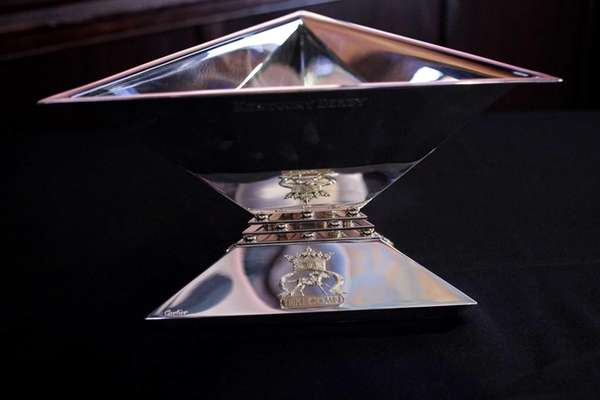 The Triple Crown trophy is displayed during the