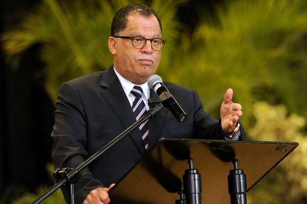 South African Fooball Association President Danny Jordaan swears