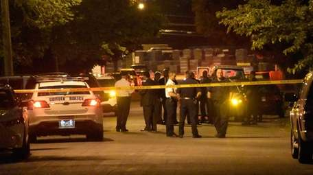 Suffolk County police on scene of fatal shooting