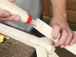 Using carpenter glue for a home project is