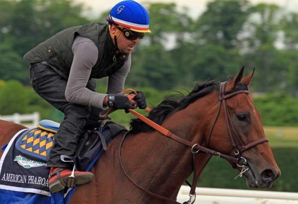Exercise rider Jorge Alvarez gallops Kentucky Derby and