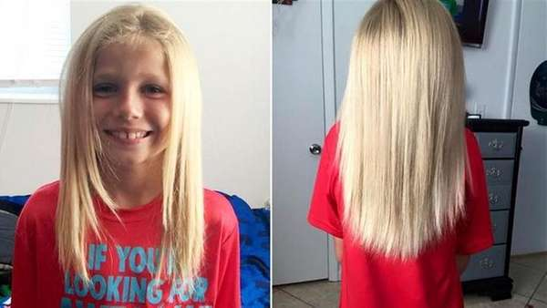 Christian McPhilamy donated 10 inches of hair to