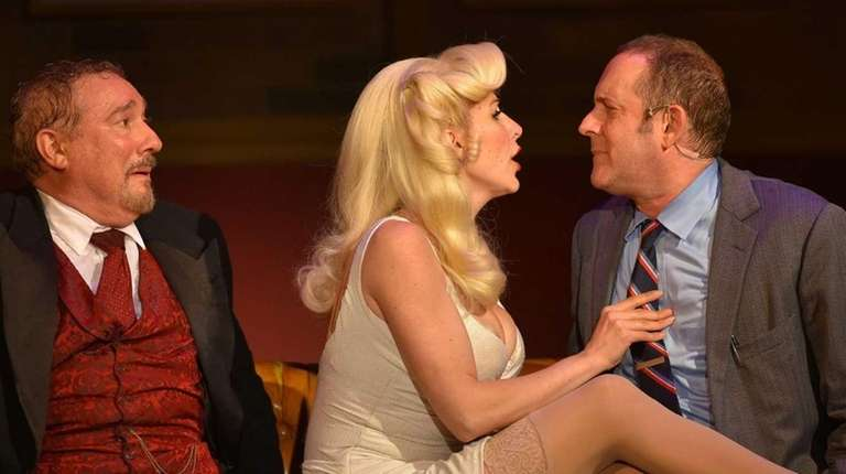 Stuart Zagnit, left, as Max Bialystok, Gina Milo