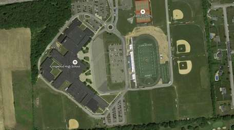 An overhead image of Longwood High School in