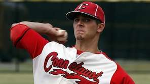 Connetquot starting pitcher Travis Bruinsma delivers in the