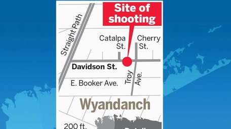 This map shows the area in Wyandanch where