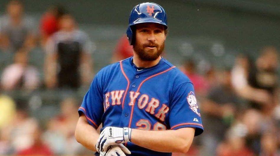 Daniel Murphy of the New York Mets stands