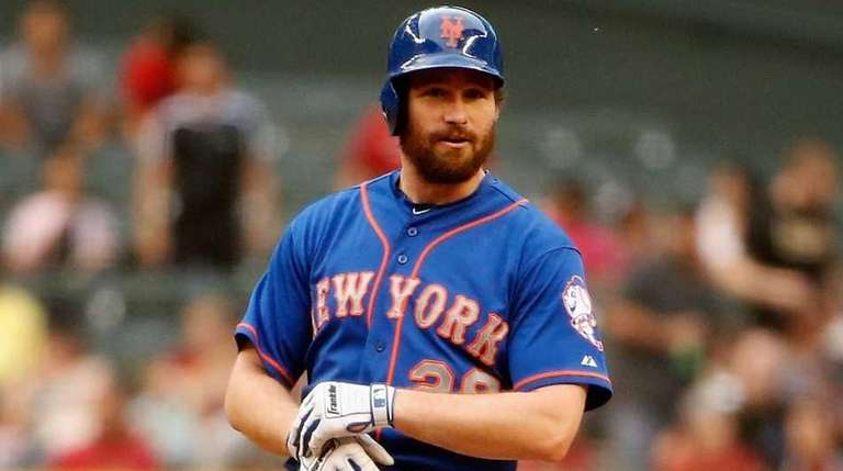 Daniel Murphy of the New York Mets stands