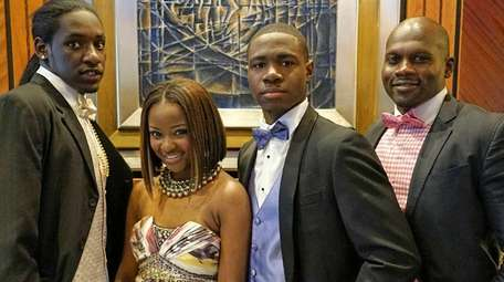 From left, Donnell McCullough, 18, of Hempstead; Makala