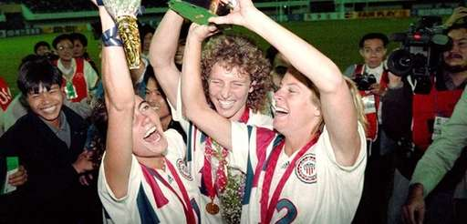 Michelle Akers-Stahl, who scored two goals for the