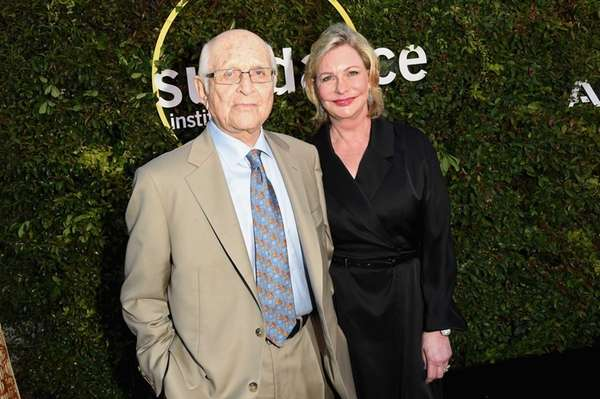 Writer-producer Norman Lear (L) and co-founder and member