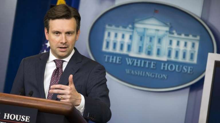 White House press secretary Josh Earnest speaks about