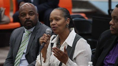 School board member Shelly Brazley speaks out against