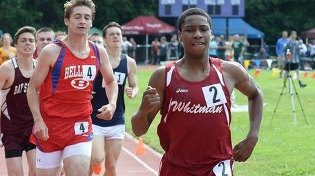 Whitman's Shamar Powell wins the boys 800-meter run
