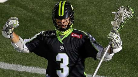 Rob Pannell of the New York Lizards reacts