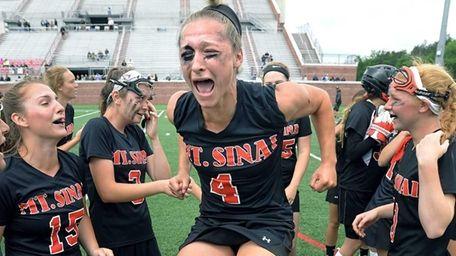 Mt. Sinai's Sydney Pirreca celebrates her team's win