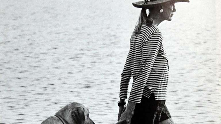Frissell with her dog, Hugo, in Stony Brook