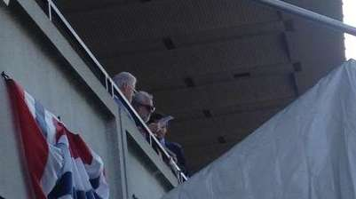 Former President Bill Clinton attends the Belmont Stakes