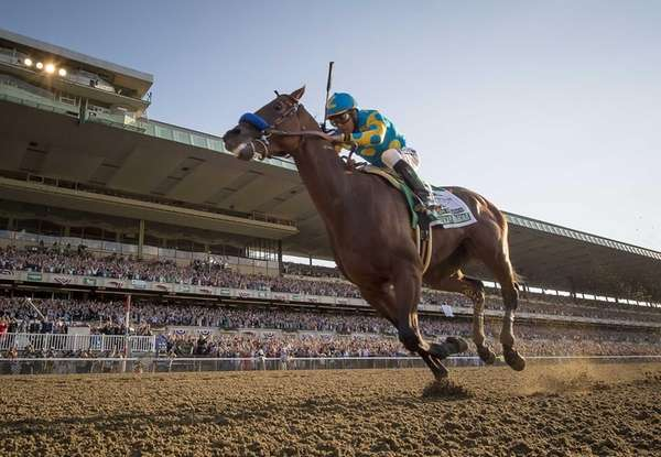 American Pharoah, winning the triple crown in the