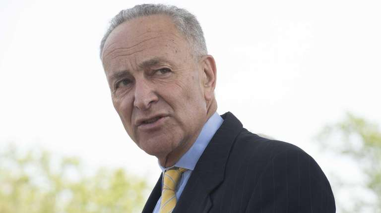 Sen. Charles Schumer attends a press conference on