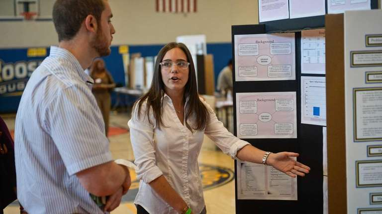 Oceanside senior Victoria Leto, 17, explains her project
