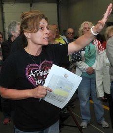 Serafina Natale, of Holbrook, voices her concerns regarding