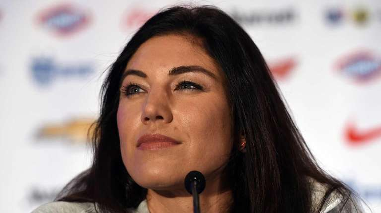 U.S. women's soccer team goalkeeper Hope Solo talks