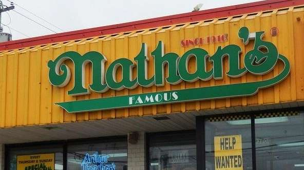 Nathan's Famous in New Hyde Park on Nov.