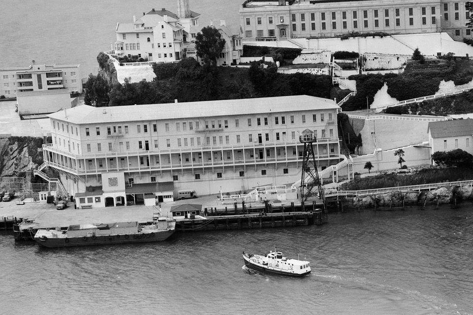 Alcatraz Federal Penitentiary in San Francisco Bay on