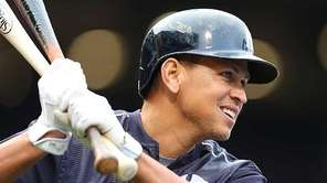 Alex Rodriguez of the New York Yankees prepares