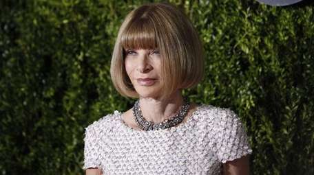 Anna Wintour, editor-in-chief of Vogue, arrives at the