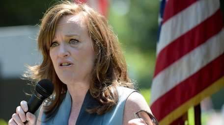Rep. Kathleen Rice speaks at Garden City's Memorial