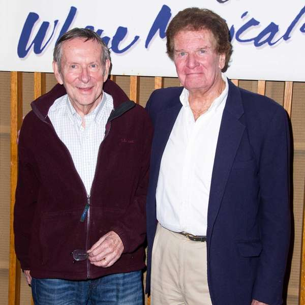 Composer Will Holt, left, and writer Tom Sawyer