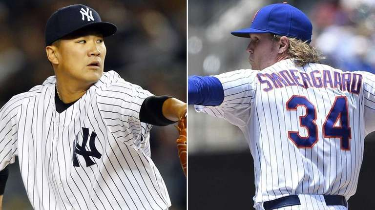 The Yankees' Masahiro Tanaka and the Mets' Noah