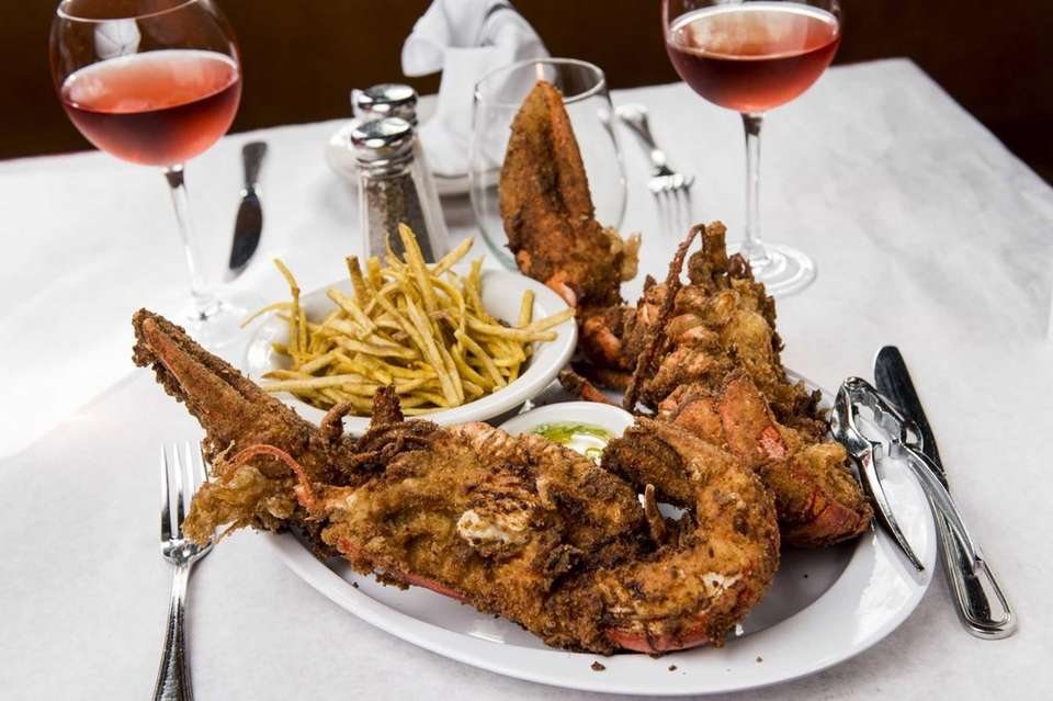 Crisp fried lobster highlights the main courses at