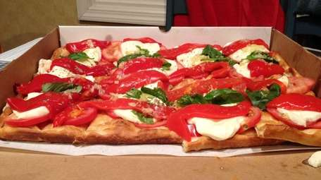 The Caprese pizza at Mamma Lombardi's in Holbrook