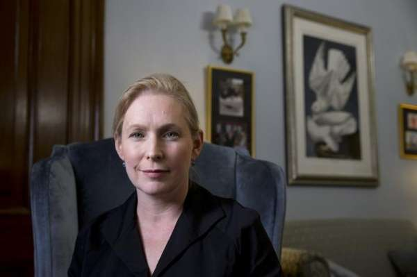 Sen. Kirsten Gillibrand (D-N.Y.) in her office on