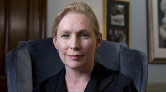Sen. Kirsten Gillibrand (D-N.Y.) in her office on